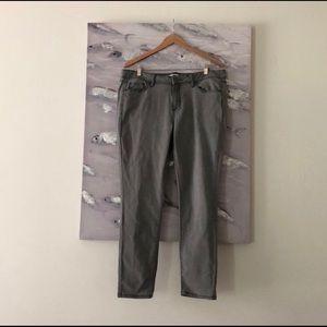 Sonoma light grey skinny jeans! Like new. Size 16